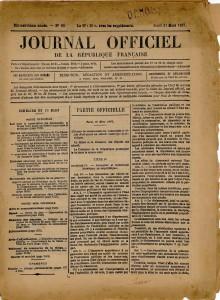 Loi du 30 mars 1887 sur les Monuments historiques (Médiathèque de l'architecture et du patrimoine, Paris)