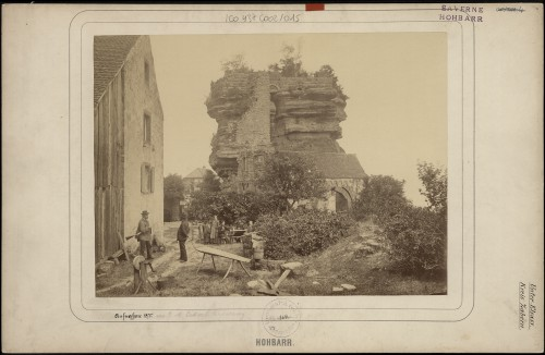 Château du Haut-Barr à Saverne, vue d'ensemble. Auteur : G. M. Eckert, 1875 (Denkmalarchiv, © DRAC Alsace)