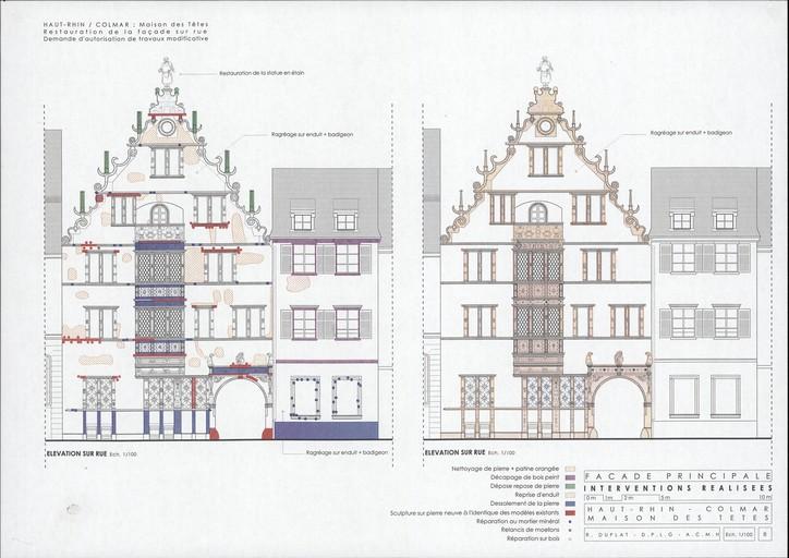 Maison des Têtes à Colmar, après la restauration de 2010. Auteur : Richard Duplat, 2012 ( (c) DRAC Alsace)