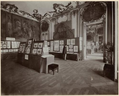Exposition de 1905, salle consacrée au Haut-Rhin (Denkmalarchiv, DRAC Alsace)