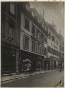 138 et 140 Grand'Rue à Strasbourg. Auteur : Freyermuth, 1913 (Denkmalarchiv, DRAC Alsace)