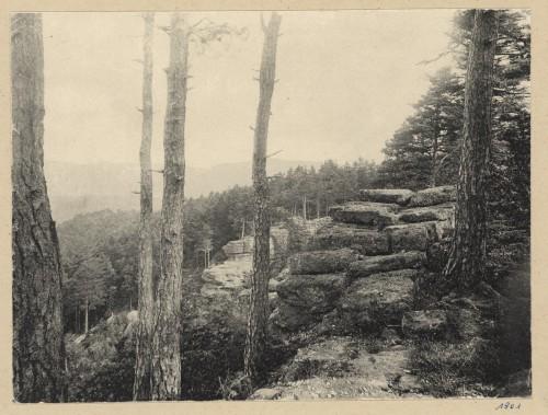 Mur païen du Mont Sainte-Odile, front ouest. S.n., 1901 (Denkmalarchiv, DRAC Alsace)
