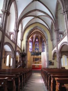 Intérieur de l'église de la Paix à Froeschwiller. Auteur : Clémentine Albertoni, 2013 (CRMH, DRAC Alsace)