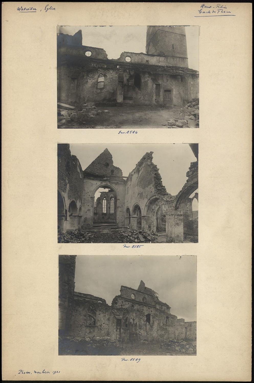 Église Saint-Jean-Baptiste à Wattwiller, destructions 1914-1918. S.n., 1921 (Denkmalarchiv, © DRAC Alsace)