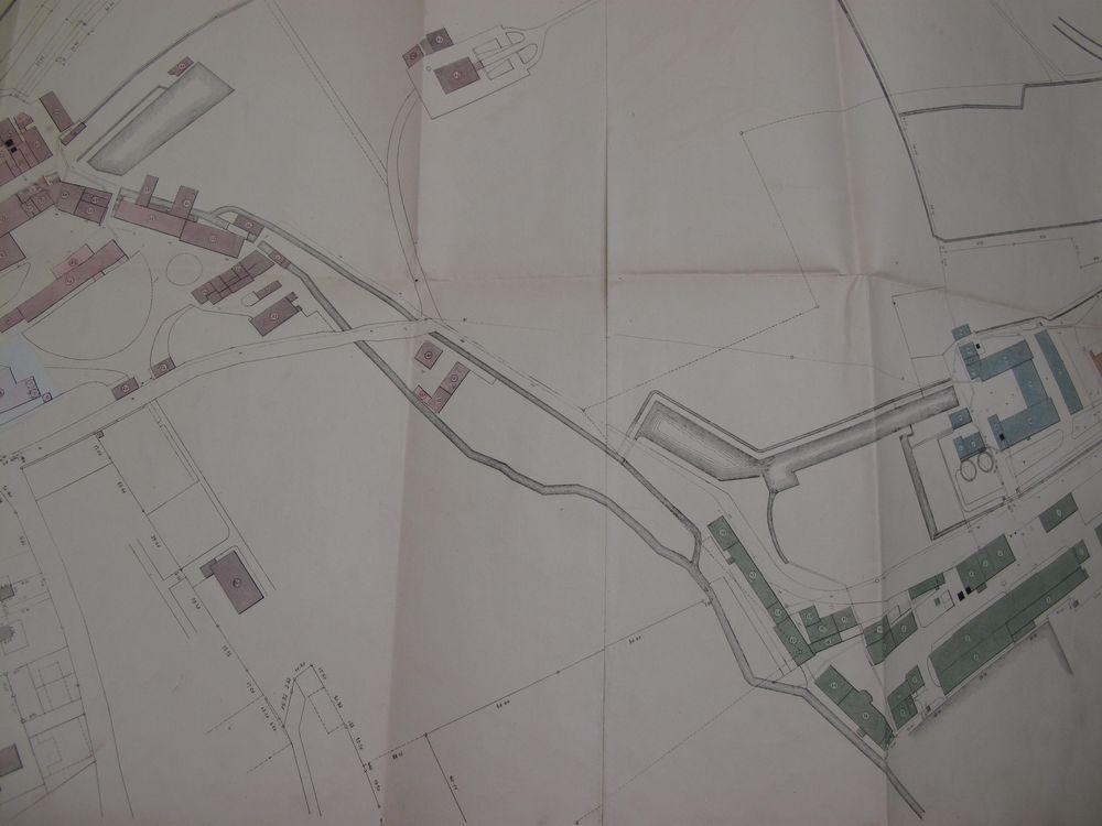 Plan général du site de DMC, 1866 ( (c) Musée DMC, en dépôt au CERARE)