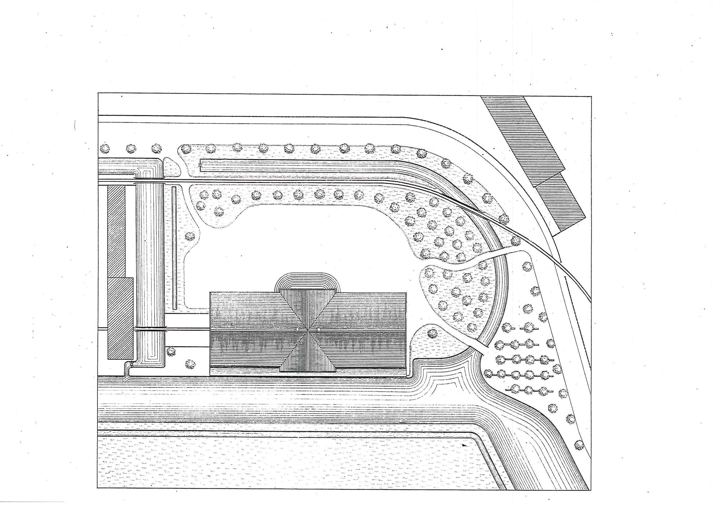 Le bâtiment et son environnement (archives Pierre Fluck)