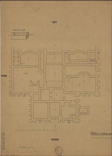 Plan du site gallo-romain de Mackwiller. Auteur: Henri Schlosser, s. d.(Denkmalarchiv, © DRAC Alsace) .