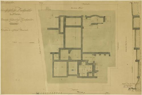 Plan du site gallo-romain de Mackwiller. Auteur: Paul Ernest Zigan, 20 juin 1906 (Denkmalarchiv, © DRAC Alsace) .