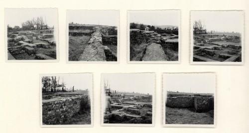 Visite des thermes de Mackwiller, avril 1956 (Denkmalarchiv, © DRAC Alsace) .