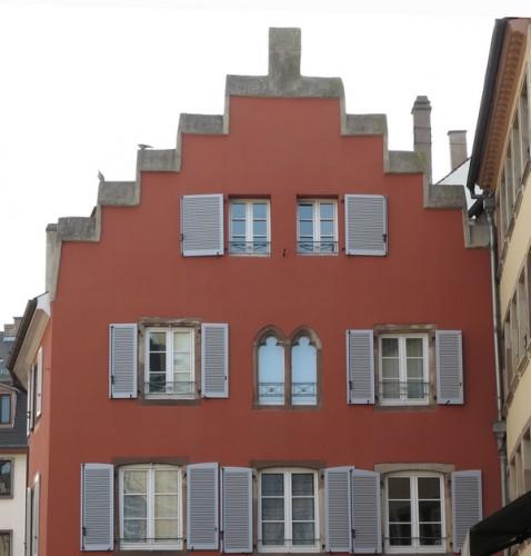Façade du 10, rue de la Râpe à Strasbourg. Cliché : Marie-Dominique Waton (DRAC Alsace)
